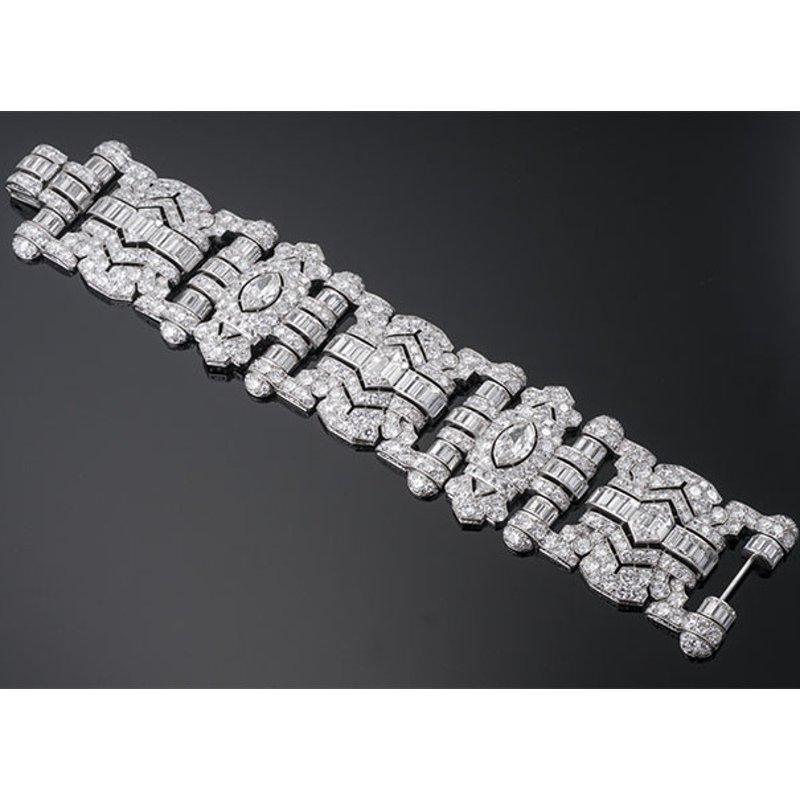 Antony Jewelers Art-deco style diamond bracelet