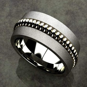 Two tone men's ring'