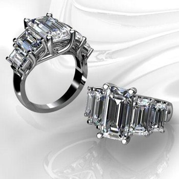 5  baguette diamonds  engagement ring