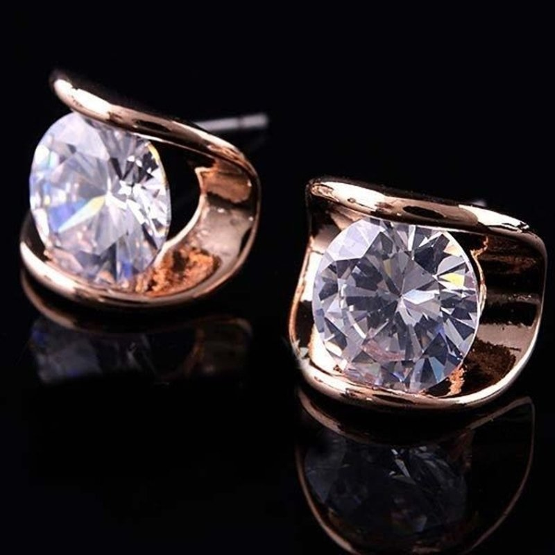 Antony Jewelers Rose gold earrings with pink quartzes