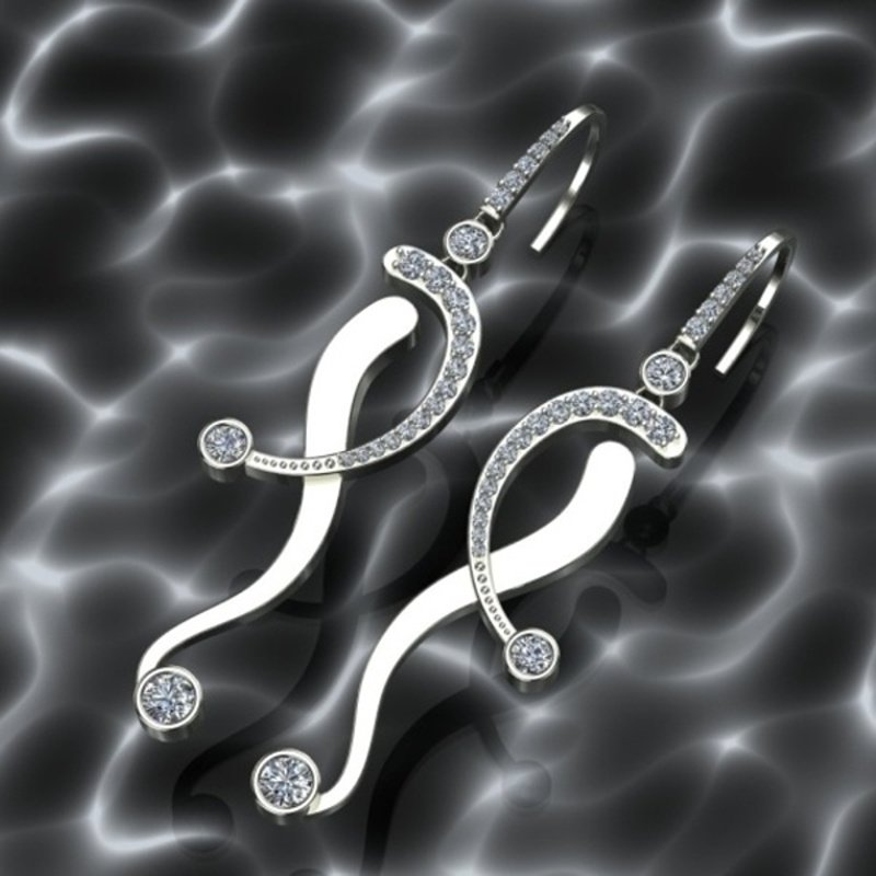 Antony Jewelers White gold diamond earrings