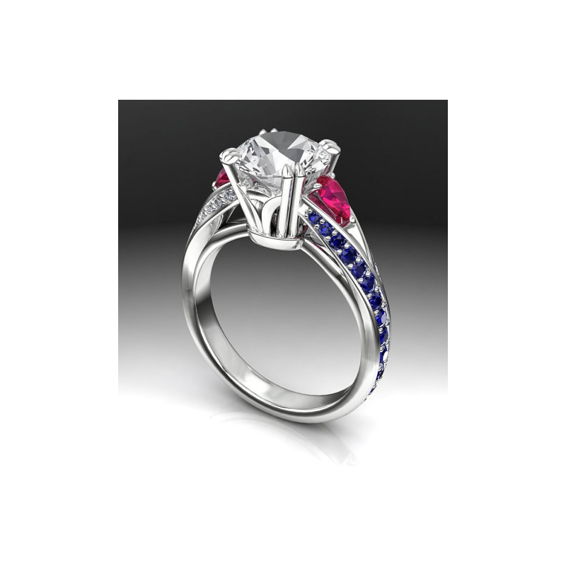 Antony Jewelers Engagement ring with Sapphire & Ruby