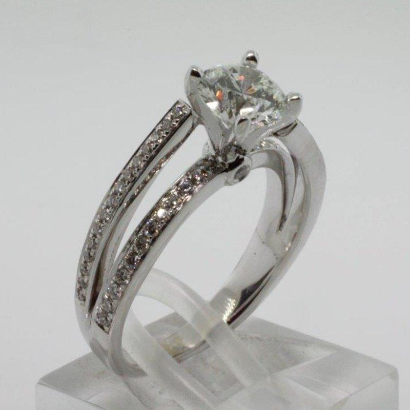 Antony Jewelers Contemporary style diamond engagement ring