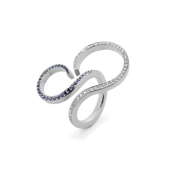 Diamond & Blue Sapphire fashion ring