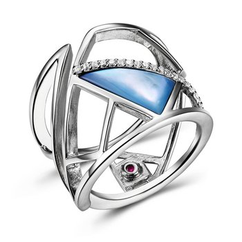 Modern fashion ring with star sapphire