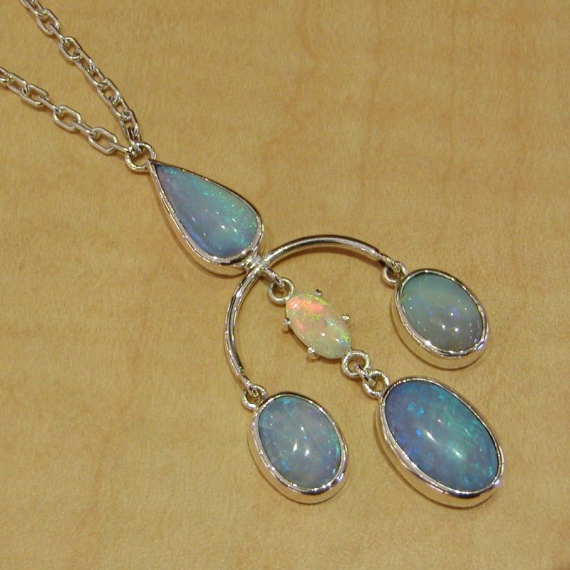 Antony Jewelers  Silver necklace with moon stone