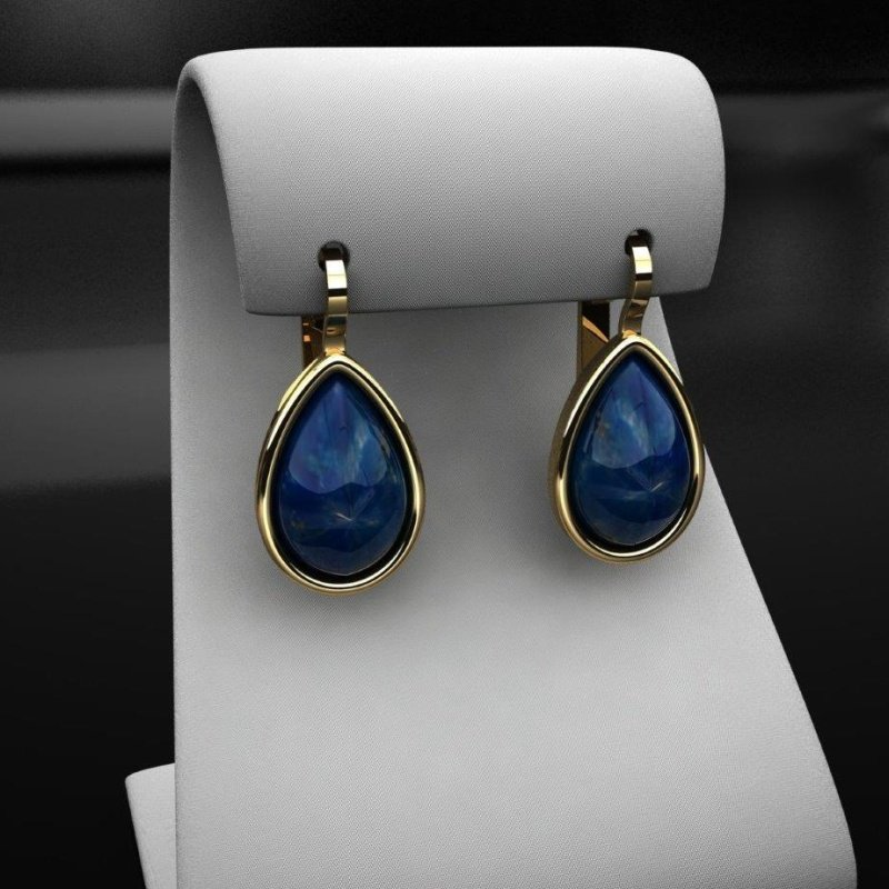 Antony Jewelers Colorful earrings with star sapphires