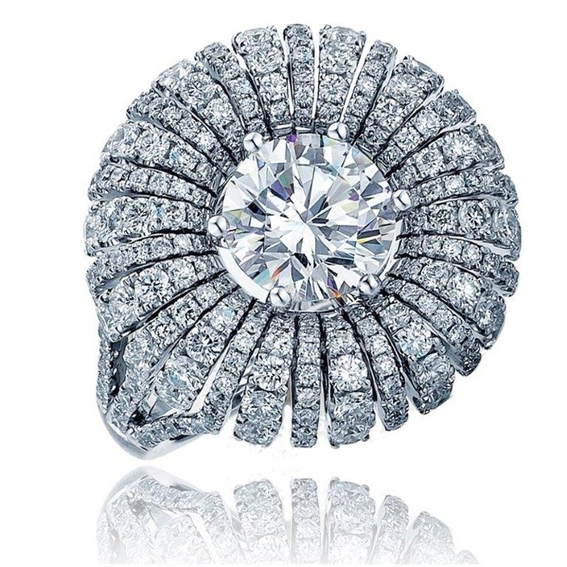 Antony Jewelers A-state-of-art engagement ring with diamonds