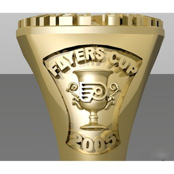 Flyers Cup gold men's ring