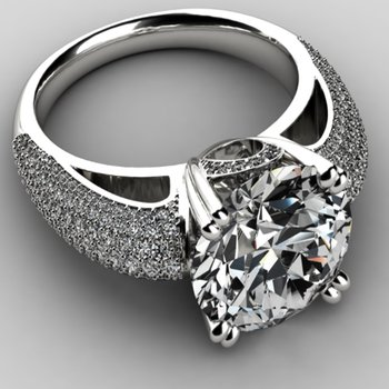 Solitare Engagement Ring with round diamonds