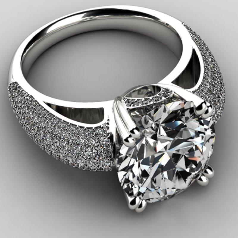 Antony Jewelers Solitare Engagement Ring with round diamonds