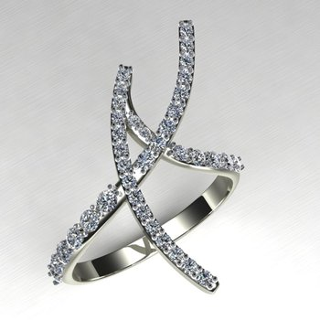 Modern engagement ring with diamonds