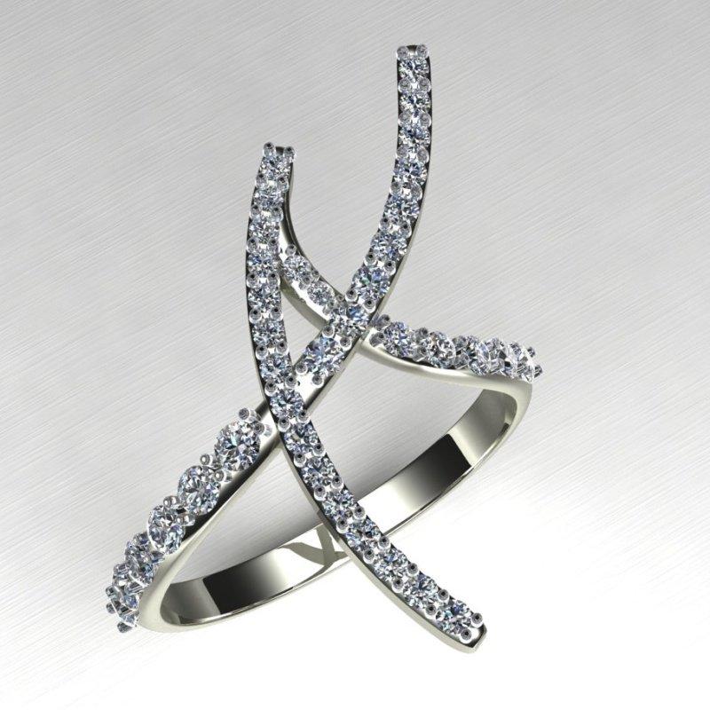 Antony Jewelers Modern engagement ring with diamonds