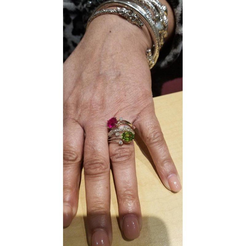 Antony Jewelers Colorful gemstone ring