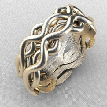 Wave style gold band