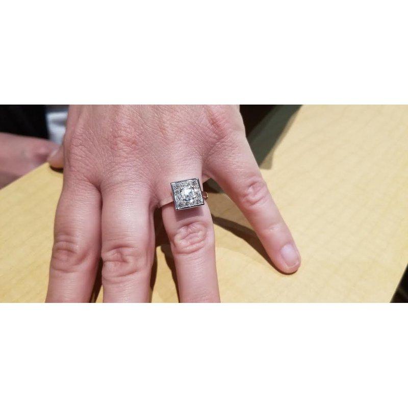 Antony Jewelers Square diamond ring