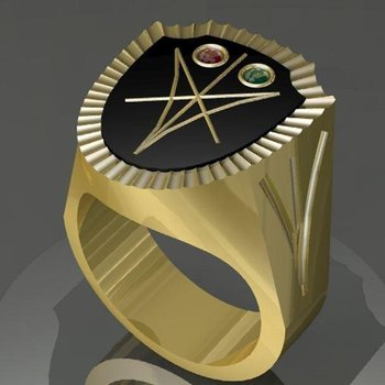 Amazingly constructed men's ring