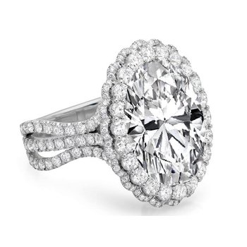 Adore you - double halo diamond engagement ring