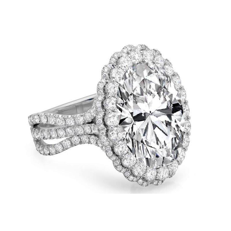 Antony Jewelers Adore you - double halo diamond engagement ring