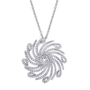 Curvy diamond pendant