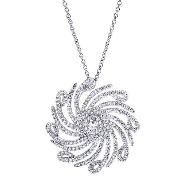 Antony Jewelers Curvy diamond pendant