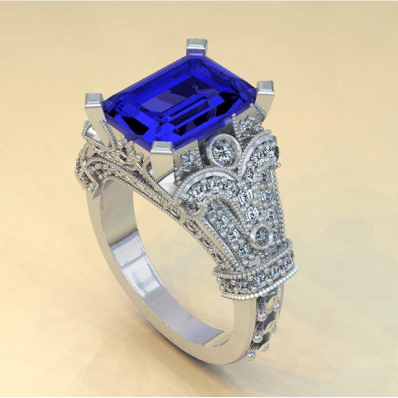 Antony Jewelers Antique sapphire engagement ring