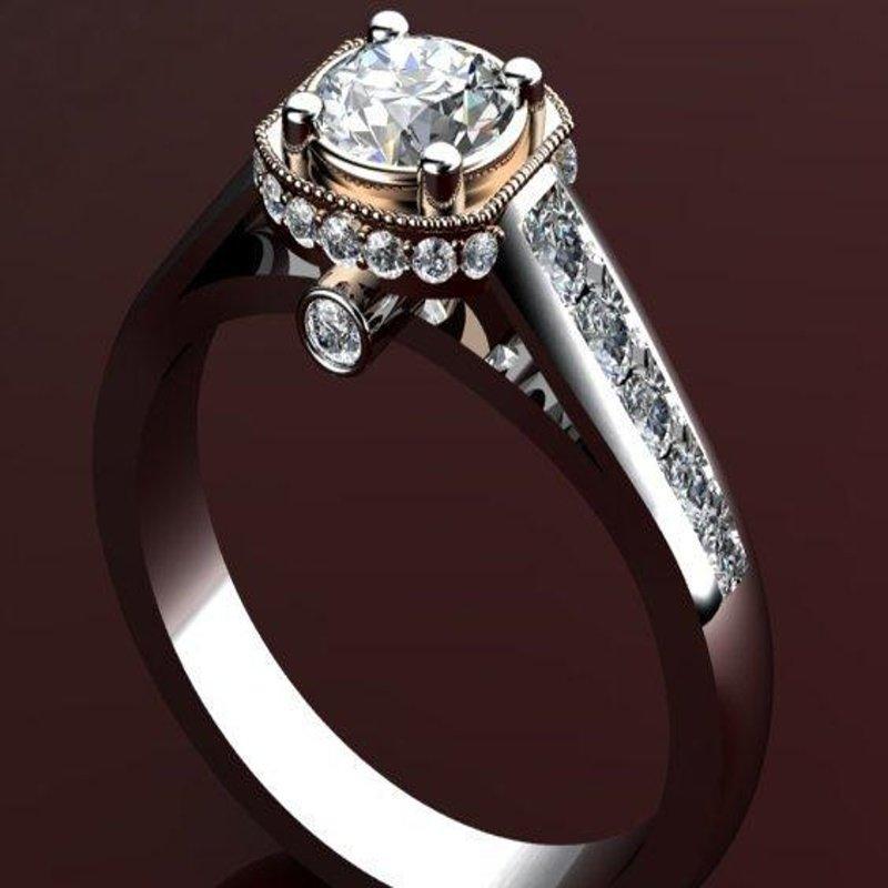 Antony Jewelers Contemporary design engagement ring