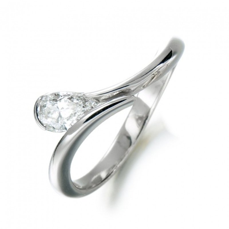 Antony Jewelers Elegant engagement ring with pear shape diamond