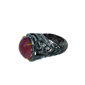 Blackened gold vintage ring