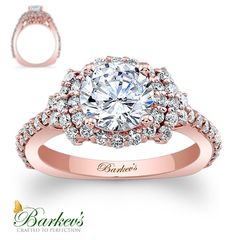 Barkev's Ros Gold Engagement Ring