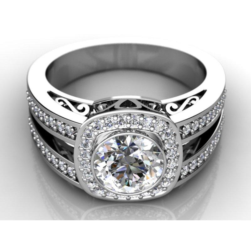 Antony Jewelers Halo diamond engagement ring