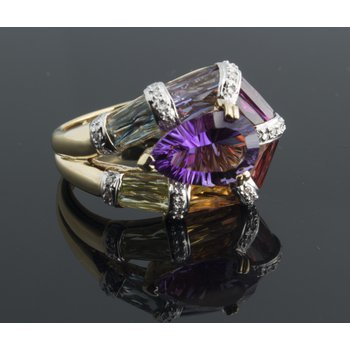 "Multicolor sapphires ""rainbow"" fashion ring"