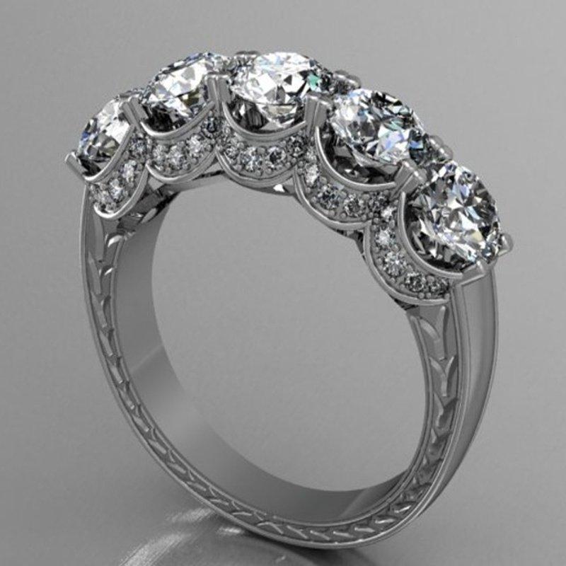 Antony Jewelers 5 stone diamond engagement ring