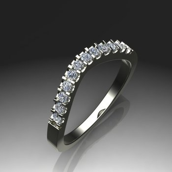 Unusually shaped diamond wedding band