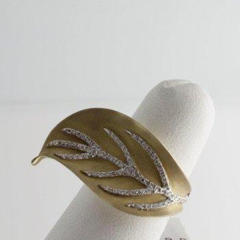 Gold leaf fashion ring