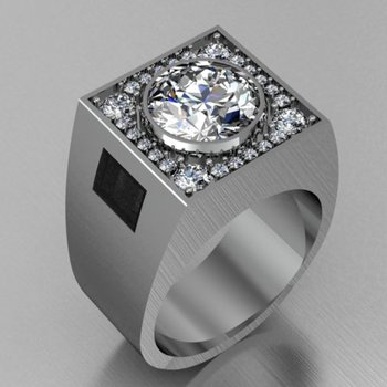 Men's 1 carat diamond ring