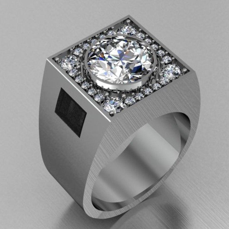 Antony Jewelers Men's 1 carat diamond ring