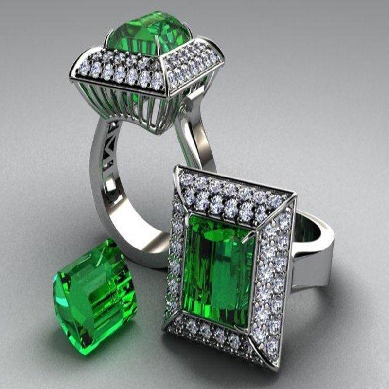 Antony Jewelers Columbian emerald cocktail ring