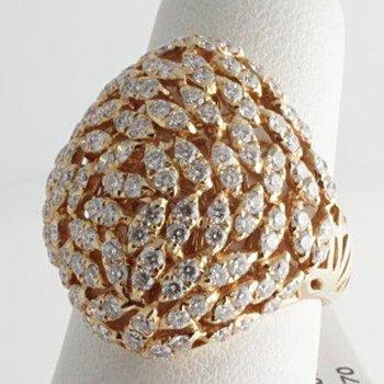 Diamond Mosaic fashion ring
