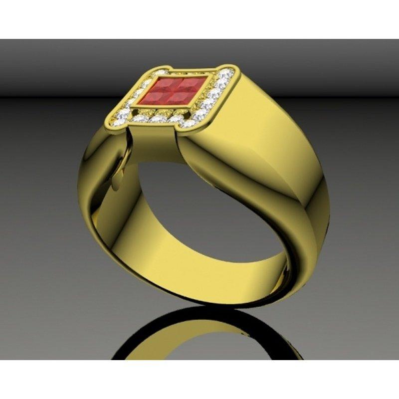 Antony Jewelers Illision set men's ruby ring