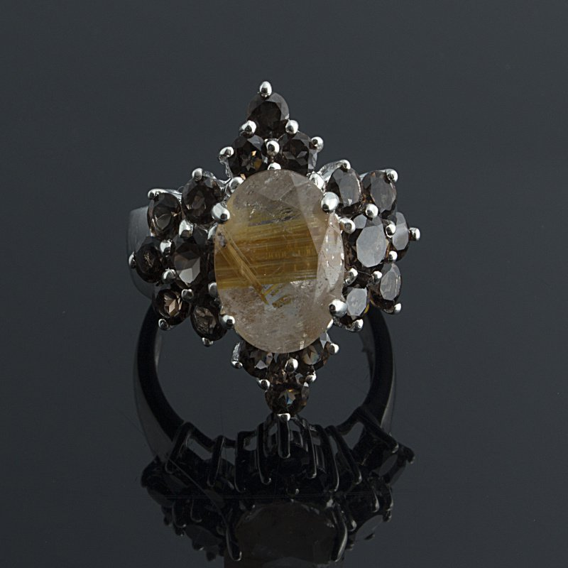 Antony Jewelers Antique style ring with rare brown diamond centered