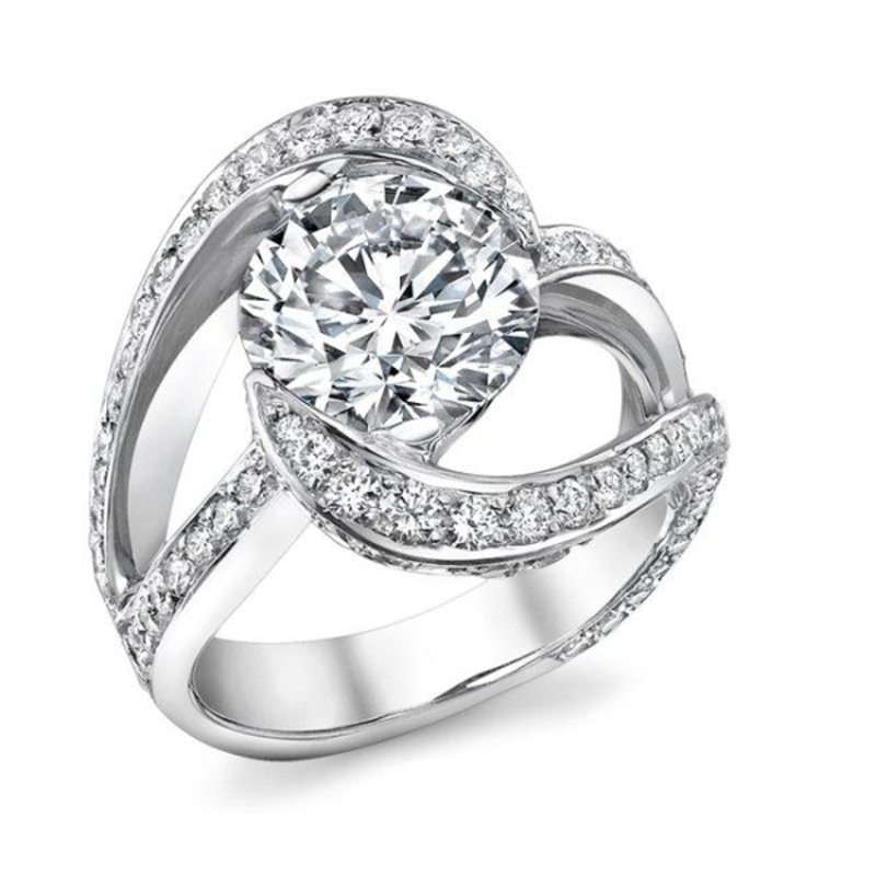 Antony Jewelers Swirl engagement ring