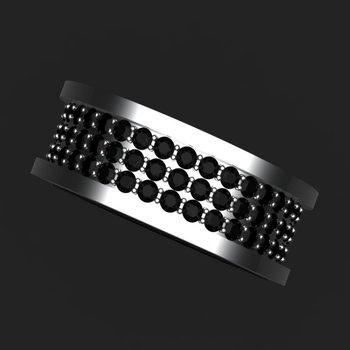 Black diamonds men's ring