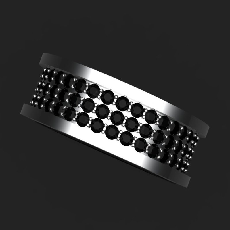 Antony Jewelers Black diamonds men's ring