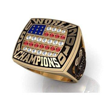 Men's Football Championship gold ring