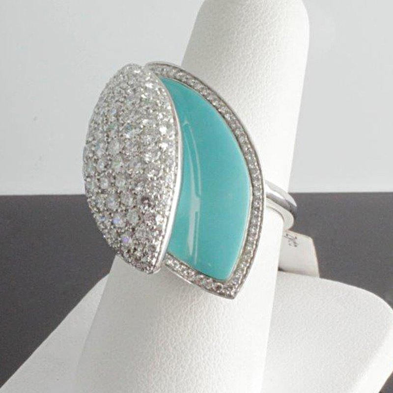 Antony Jewelers High-performance fashion ring with turquoise