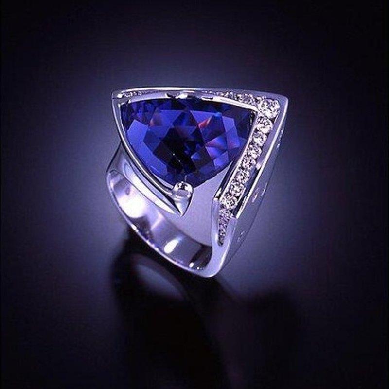 Antony Jewelers Trillion tanzanite fashion ring