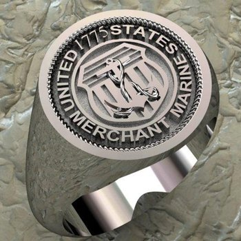 United States Marine symbol men's ring