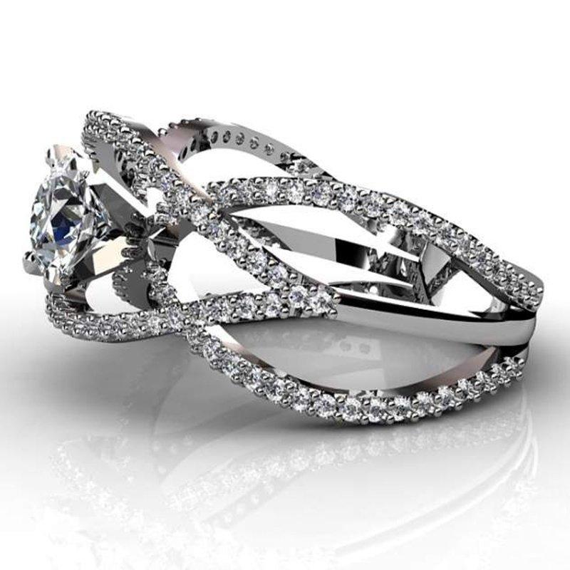 Antony Jewelers White gold diamond engagement ring