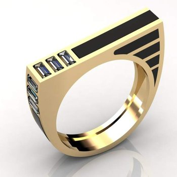 Modernly designed men's ring